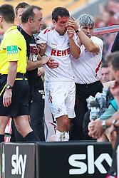 20.08.2011,  Rhein Energie Stadion, Koeln, GER, 1.FBL, 1. FC Koeln vs 1. FC Kaiserslautern, im Bild.Christian Eichner (Koeln #4) wird blutüberströmt ausgewechselt..// during the 1.FBL, 1. FC Koeln vs 1. FC Kaiserslautern on 2011/08/20, Rhein-Energie Stadion, Köln, Germany. EXPA Pictures © 2011, PhotoCredit: EXPA/ nph/  Mueller *** Local Caption ***       ****** out of GER / CRO  / BEL ******