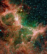 The Eagle nebula. Spitzer Space Telescope.