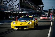 June 16-17, 2018: 24 hours of Le Mans. 64 Corvette Racing, Corvette C7.R, Oliver Gavin, Tommy Milner, Marcel Fassler