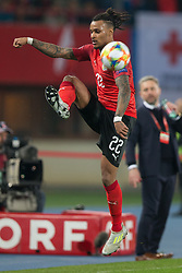 March 21, 2019 - Vienna, Austria - Valentino Lazaro of Austra during the UEFA European Qualifiers 2020 match between Austria and Poland at Ernst Happel Stadium in Vienna, Austria on March 21, 2019. (Credit Image: © Foto Olimpik/NurPhoto via ZUMA Press)