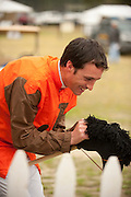 9  April, 2011:  Ross Geraghty has a light hearted moment with a toy horse before the first race at Stoneybrook.