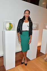 Athlete JADE JOHNSON at the Art of Futebol - a charity auction of 11 footballs signed by 11 Brazilian legends from Pele to Neymar & decorated and designed by 11 leading contemporary artists in aid of Action for Brazil's Children Trust held at the Brazilian Embassy, 16 Cockspur Street, London on 10th July 2014.
