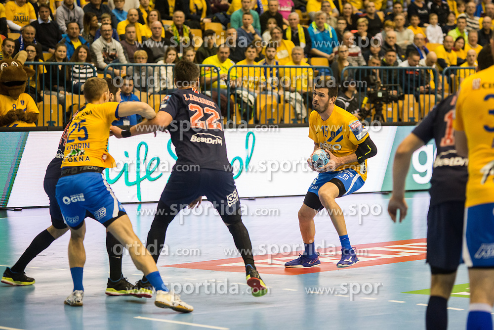 Drasko Nenadic vs Luka Karabatic during handball match between RK Celje Pivovarna Lasko (SLO) and Paris Saint-Germain HB (FRA) in VELUX EHF Champions League 2018/19, on February 24, 2019 in Arena Zlatorog, Celje, Slovenia. Photo by Peter Podobnik / Sportida