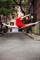 Streets of New York City Dance As Art Photography Project in West Village featuring dancer Alyssa Ness.