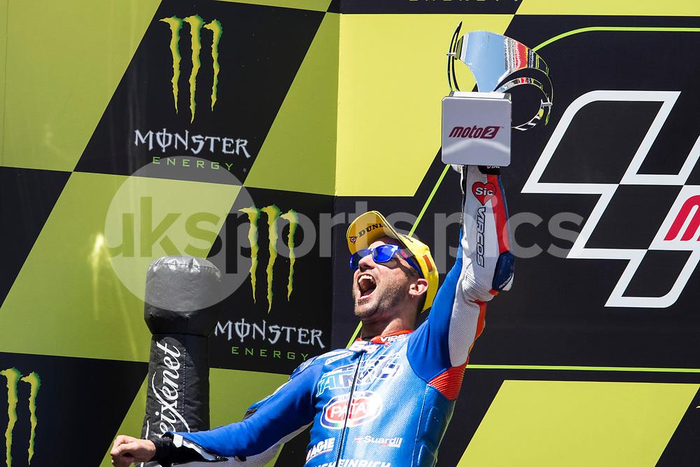 Mattia Pasini of Italy and Italtrans Racing team during the race of  Moto2 of Catalunya at Circuit de Catalunya on June 11, 2017 in Montmelo, Spain.(Asenjo Sesma / AFP7)