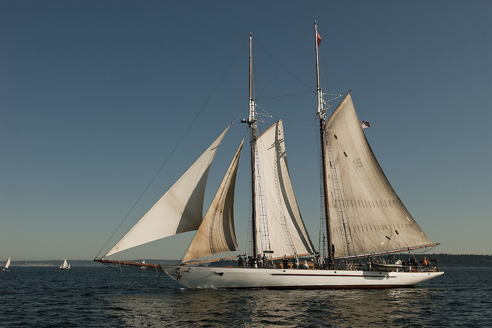 Schooner Adventuress photographed during the Port Townsend Wooden Boat Festival in Port Townsend, WA Images from the Port Townsend Wooden Boat Festival September 12, 2009, Port Townsend, WA. Images of the schooner Adventuress.
