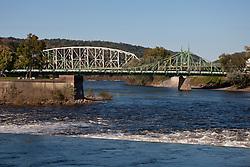 Northampton Street Bridge crossing the Delaware River, Easton, Pennsylvania, United States of America