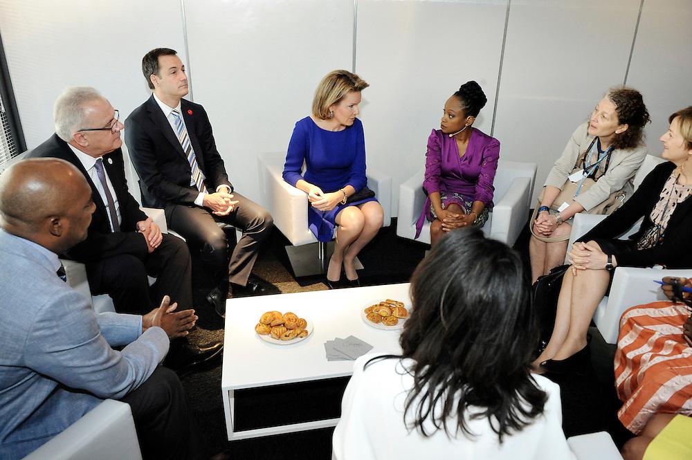 20150604- Brussels - Belgium - 04 June2015 - European Development Days - EDD  - Queen Mathilde of Belgium, Nesmy Manigat Haiti  and Alexander De Croo Belgian Minister  © EU/UE