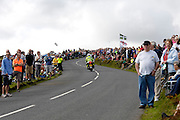 UK, September 15 2011: Spectators wait for the arrival of the Tour of Britain on the climb to Haytor during the fifth stage of the 2011 Tour of Britain. The stage started in Exeter and finished in Exmouth. Copyright 2011 Peter Horrell