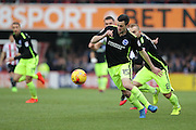 Brighton & Hove Albion winger Jamie Murphy (15) during the EFL Sky Bet Championship match between Brentford and Brighton and Hove Albion at Griffin Park, London, England on 5 February 2017.