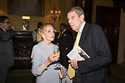MARCHIONESS OF LONDONDERRY, ( DOREEN WELLS ) SIR TOBIAS CLARKE, Launch hosted by Quartet books  of Madam, Where Are Your Mangoes? by Sir Desmond de Silva at The Carlton Club. London. 27 September 2017.