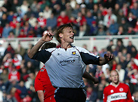 Photo: Andrew Unwin.<br />Middlesbrough v West Ham United. The Barclays Premiership. 17/04/2006.<br />West Ham's Teddy Sheringham rues a missed opportunity.