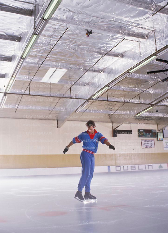 DUBLIN, CA -  SEPTEMBER 1987:  Brian Boitano of the USA skating at the Dublin Iceland arena in Dublin, California in September 1987.  Boitano later became the Olympic Champion in Men's Figure Skating at the 1988 Winter Olympics.  (Photo by David Madison/Getty Images) *** Local Caption *** Brian Boitano