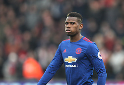 Paul Pogba of Manchester United - Mandatory by-line: Jack Phillips/JMP - 21/01/2017 - FOOTBALL - Bet365 Stadium - Stoke-on-Trent, England - Stoke City v Manchester United - Premier League