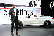 Mar 23, 2016 - New York, New York, U.S. - March 23, 2016 New York City..Tobias Moers on stage at the reveal for Mercedes-Benz the New York International Auto Show on March 23, 2016 in New York City. (Credit Image: © Exclusivepix Media)