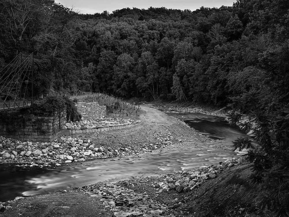 Grist Mill Trail and Patapsco River, Ellicott City, MD.