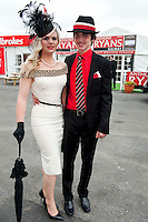 Danielle Gingell and Luke Gibbons Claremorris at the Anthony Ryan's Best Dressed ladies day at the Galway . Photo:Andrew Downes.Photo issued with Compliments, No reproduction fee on first use