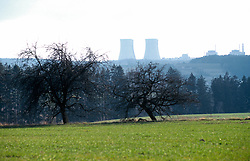 CZECH REPUBLIC:TEMELIN:MAR00 - A view across some adjoining fields of Czech nuclear power plant Temelin. .Despite vehement and sustained protests from both environmental groups at home and abroad, the Czech government persist on completing the fourth reactor of the plant. Neighbouring cournties Austria and Germany have expressed concerns about the outdated technology and security measures applied inside the reactor. jre/Photo by Jiri Rezac..© Jiri Rezac 2000..Tel:   +44 (0) 7050 110 417.Email: info@jirirezac.com.Web:   www.jirirezac.com