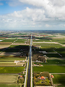 Nederland, Noord-Holland, Gemeente Zijpe, 16-04-2012; Zijpe- en Hazepolder, de Polder Zuider G en Polder B aan weerszijden van de Groote Sloot, ten noorden van Burgerbrug..Polder in the north of the province Noord-Holland, dating from the 16th century..luchtfoto (toeslag), aerial photo (additional fee required);.copyright foto/photo Siebe Swart