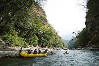 Rafting on the Mangde Chhu (river) in Bhutan.
