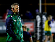 Forwards Coach Jimmy Duffy of Connacht during the pre match warm up<br /> <br /> Photographer Simon King/Replay Images<br /> <br /> Guinness PRO14 Round 7 - Ospreys v Connacht - Friday 26th October 2018 - The Brewery Field - Bridgend<br /> <br /> World Copyright &copy; Replay Images . All rights reserved. info@replayimages.co.uk - http://replayimages.co.uk