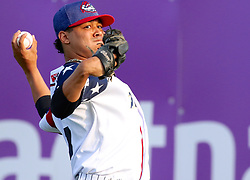 July 5, 2017 - Trenton, New Jersey, U.S - JUSTUS SHEFFIELD was the starting pitcher for the Trenton Thunder in the game tonight vs. the Fightin Phils at ARM & HAMMER Park. Here, he warms up before the game. (Credit Image: © Staton Rabin via ZUMA Wire)