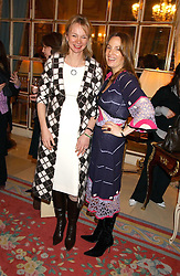 Left to right, the COUNTESS OF DERBY and EMILY OPPENHEIMER TURNER at a ladies lunch in aid of the NSPCC held at The Ritz, Piccadilly, London on 7th March 2006.<br />