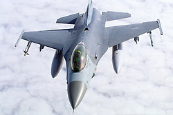 F-16 in flight..