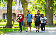 Student at the University of Wisconsin-Madison walk down Bascom Hill. (Photo © Andy Manis)