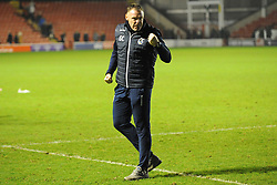 Bristol Rovers caretaker manager Graham Coughlan celebrates after his side beat Walsall 1-3 - Mandatory by-line: Nizaam Jones/JMP - 26/12/2018 - FOOTBALL - Banks's Stadium - Walsall, England- Walsall v Bristol Rovers - Sky Bet League One
