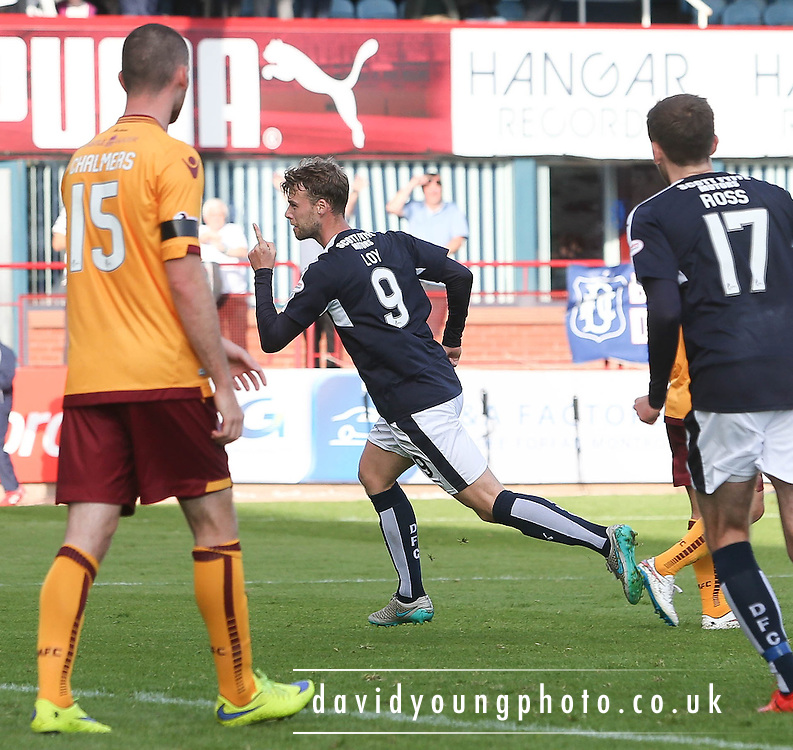 Dundee&rsquo;s Rory Loy celebrates after scoring the opener - Dundee v Motherwell - Ladbrokes Premiership at Dens Park<br /> <br /> <br />  - &copy; David Young - www.davidyoungphoto.co.uk - email: davidyoungphoto@gmail.com