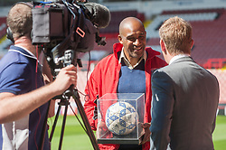 Brian Deane Who scored the very first FA Premier League Goal for Sheffield United at Bramhall Lane Sheffield against Manchester United 25 years ago Today<br /> <br /> 15 August 2017 <br />   Copyright Paul David Drabble<br />   www.pauldaviddrabble.co.uk
