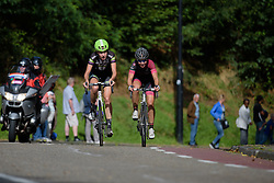Riejanne Markus and Esther van Veen in pursuit of Knetemann on the Cauberg at the 119 km Stage 6 of the Boels Ladies Tour 2016 on 4th September 2016 from Bunde to Valkenburg, Netherlands. (Photo by Sean Robinson/Velofocus).