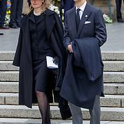 LUX/Luxemburg/20190504 -  Funeral<br /> of HRH Grand Duke Jean, Uitvaart Groothertog Jean, Prins Alois en partner prinses Sophie van Liechtenstein