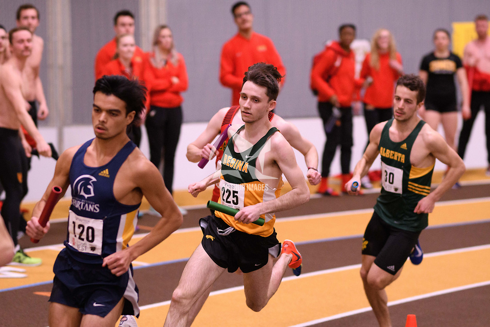 Matthew Johnson in action during the 2018 Canada West Track & Field Championship on February  23 at James Daly Fieldhouse. Credit: Arthur Ward/Arthur Images