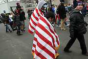 January 21, 2013-Washington, DC- Thousands of people brave the January cold to witness the 57th Inauguration ceremony of the 44th President of the United States, Barack Hussein Obama held on January 21, 2013 in  Washington, D.C. (Terrence Jennings)