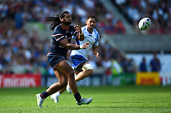 Thretton Palamo of the USA passes the ball - Mandatory byline: Patrick Khachfe/JMP - 07966 386802 - 20/09/2015 - RUGBY UNION - Brighton Community Stadium - Brighton, England - Samoa v USA - Rugby World Cup 2015 Pool B.