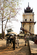Myanmar, Innwa (Ava) ancient city, the leaning tower of Ava