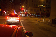 Het verkeer in San Francisco 's avonds.<br />