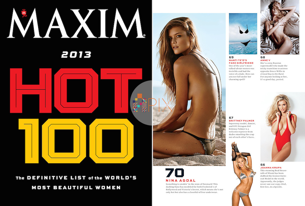 Danish supermodel Nina Agdal comes in at number 70 on the Maxim Hot 100 list.<br />