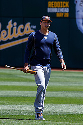 OAKLAND, CA - MAY 01: Carlos Correa #1 of the Houston Astros walks across the field before the game against the Oakland Athletics at the Oakland Coliseum on May 1, 2016 in Oakland, California. The Houston Astros defeated the Oakland Athletics 2-1. (Photo by Jason O. Watson/Getty Images) *** Local Caption *** Carlos Correa