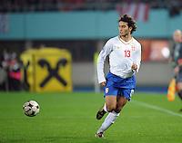 Fussball, WM Qualifikation 2010, Gruppe 7, Oesterreich - Sebien, Wien, 15.10.2008, Ivan Obradovic (Serbien)