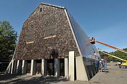 CT-DOT Orange Salt Shed Rehabilitation Project. No. 0106-0123. Construction Progress Views, 5th Photo Shoot