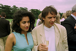 Chef RAYMOND BLANC and MISS SOMA GOSH at a polo match in Cirencester on 6th July 1997.MAA 17