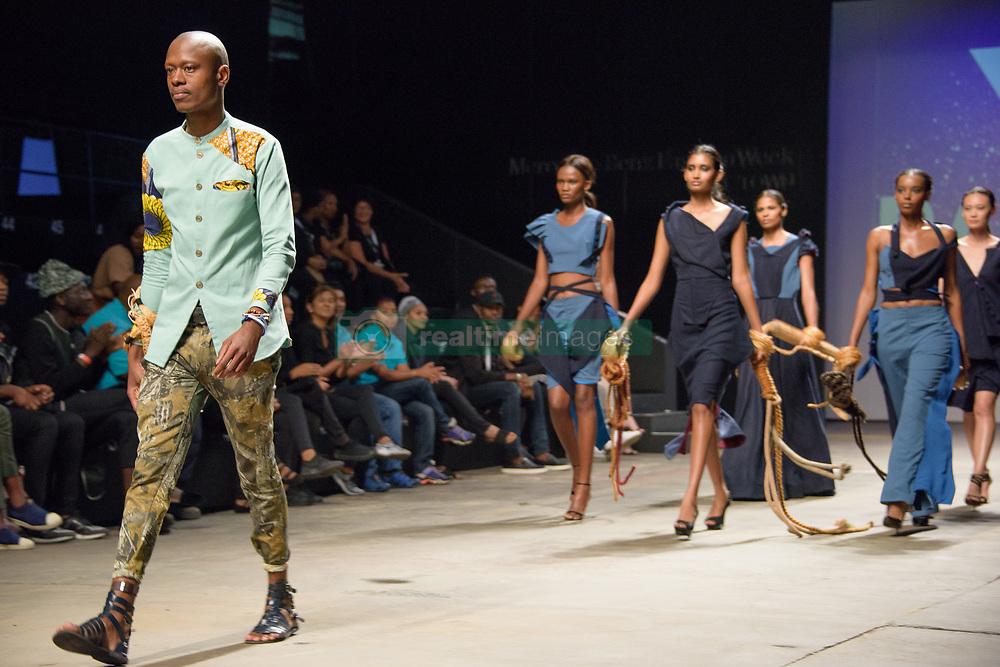 #MBFWCT17 David Tlale's The Intern. Mercedes Benz Fashion Week, Cape Town, 2017. Photo by Alec Smith/imagemundi.com