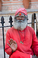 A holy man in Jaipur, Rajasthan, India