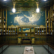 Freer Gallery of Art Peacock Room Vertical. Originally part of a London dining room and redecorated by American expatriat artist James McNeill Whistler, the Peack Room has been reinstalled as a room in the Freer Gallery of Art. The Freer Gallery of Art, on Washington DC's National Mall, joined the Arthur M. Sackler Gallery to form the Smithsonian Institution's Asian art gallery. The Freer Gallery contains a sizeable collection of Asian art, but also has a major collection of works by James McNeill Whistler.