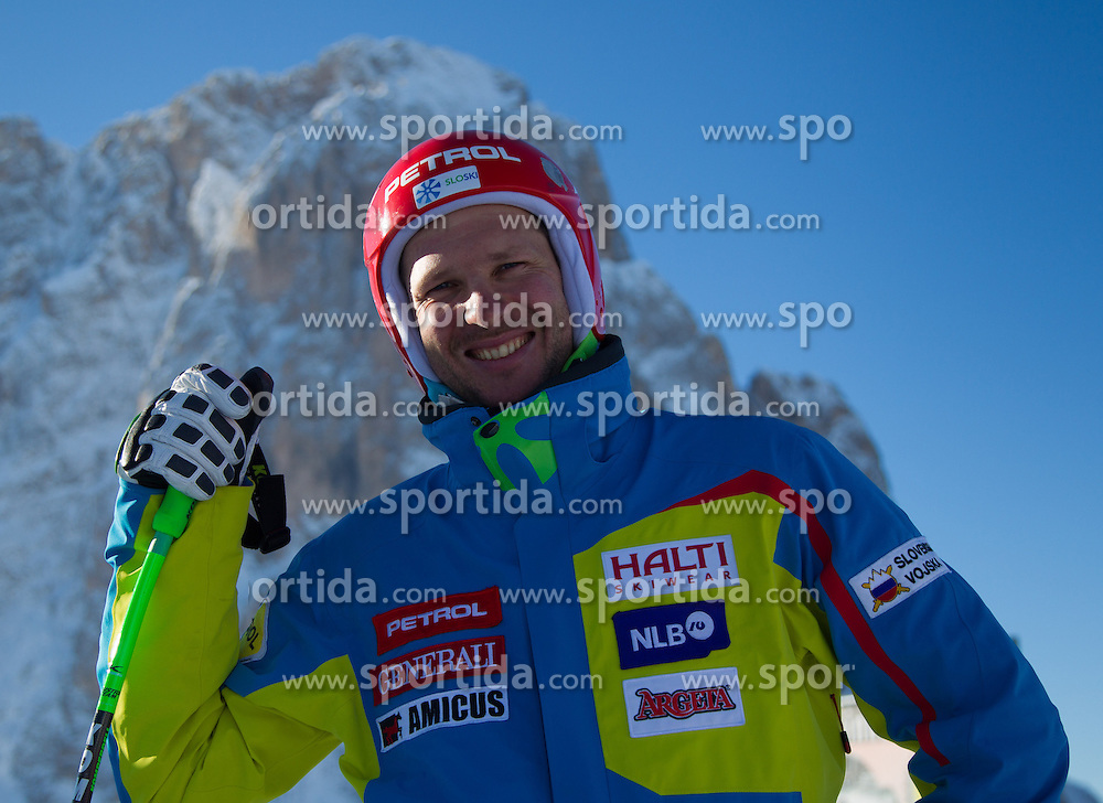 12.12.2012, Sasslong, Groeden, ITA, FIS Weltcup, Ski Alpin, Abfahrt, Herren, 1. Training, im Bild Andrej Jerman (SLO) // Andrej Jerman of Slovenia before downhill 1st practice run of the FIS Ski Alpine Worldcup at Sasslong course, Groeden, Italy on 2012/12/12. EXPA Pictures © 2012, PhotoCredit: EXPA/ Johann Groder
