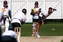 PRACTICE FOR THE FIRST TEST..HEATH STREAK BOWLING..Shenley Cricket Ground, Radlett, Hertfordshire. The Zimbabwe Cricket Team practice for the first test, May 16, 2000. Photo by Andrew Parsons / i-images..