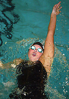 Svømming, 1. desember 2002. NIH Oslo,  Elisabeth Jarland, BS/Delfana i øvelsen rygg